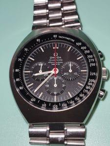 kuva huolletusta omega speedmaster mark 2-kellosta